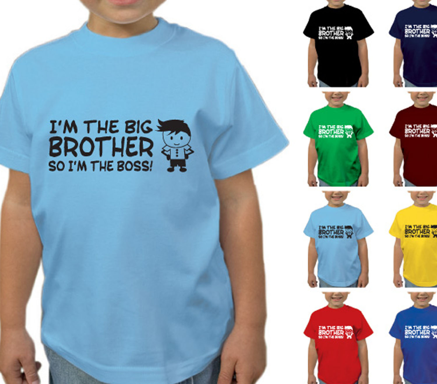 I/'m The Boss Personalised Baby Toddler T Shirt Kids Funny Gift Cute