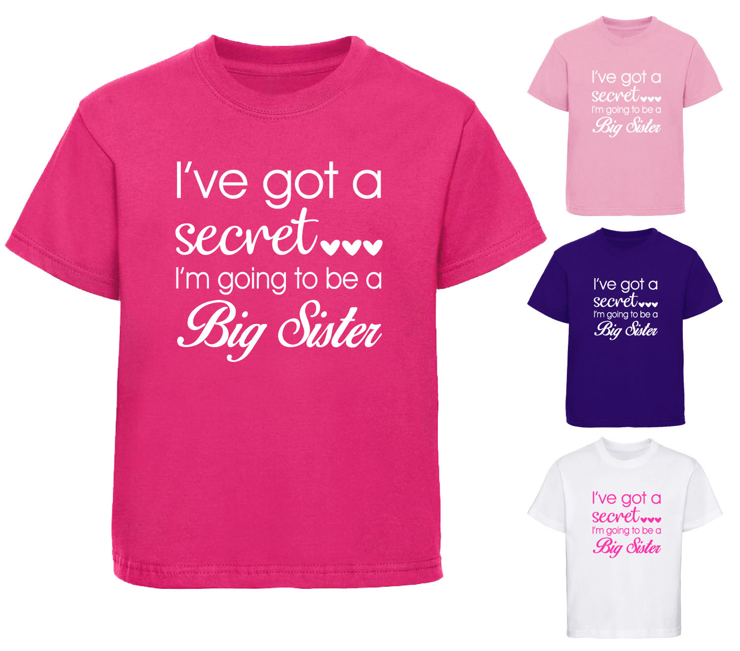 Girls T Shirts Top Shirts 2 16 Years Girls Personalised Little Sister T Shirt Flower Design Childrens T Shirt 1 12yrs Clothes Shoes Accessories Cla Ca