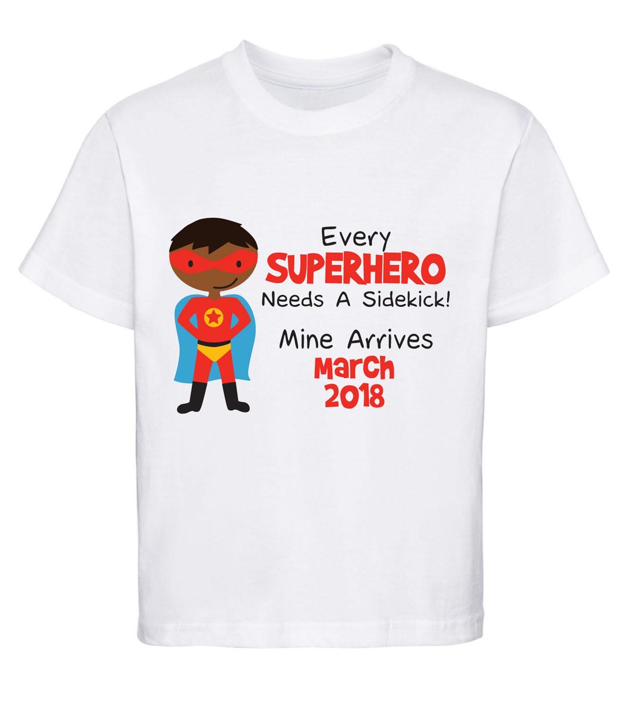 Personalised Superhero Sidekick Big Brother Kids T Shirt Boys T-Shirt Style 5