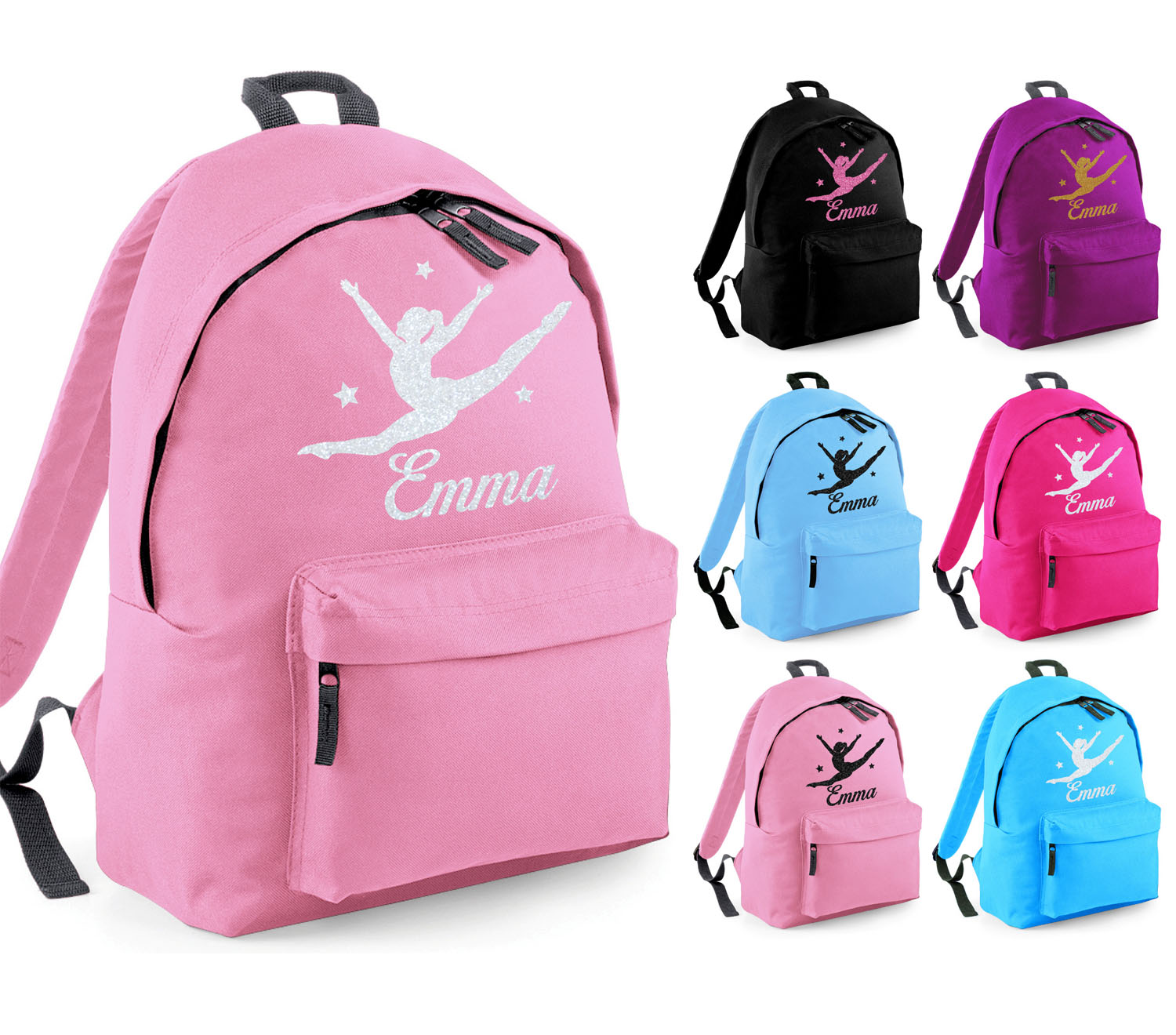 Girls Personalised Shoulder Bag for Dance Ballet Gymnastics Name Only School Bag