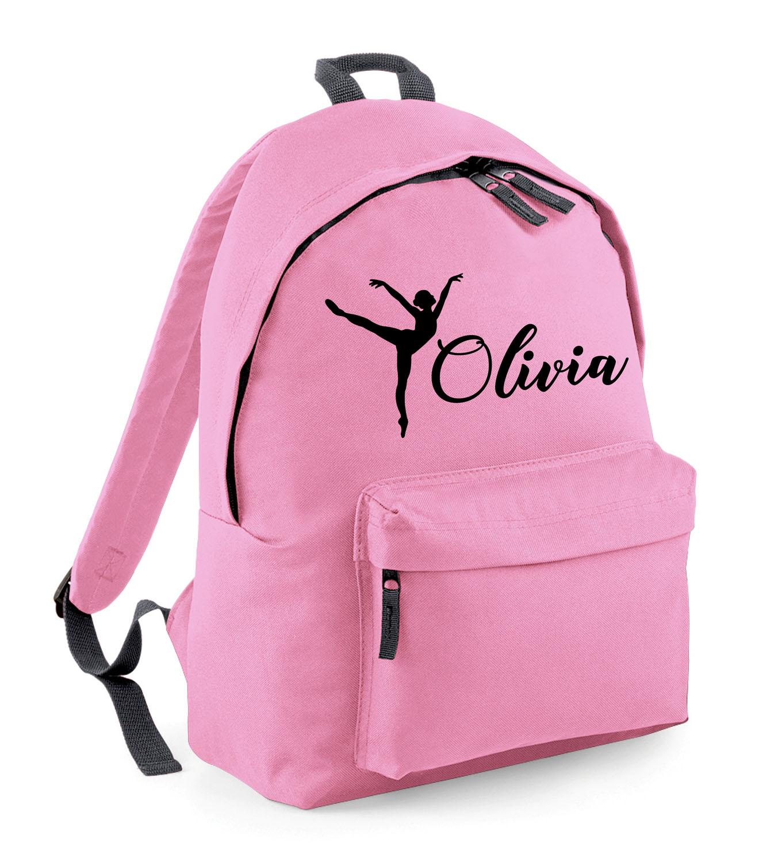 Personalised Fuschia Dance Bag Girls Gymnastics Childrens Glitter Ballet School
