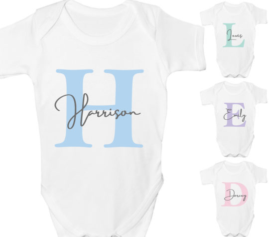 Personalised baby vest Baby grow with name